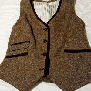 Pendleton ladies tweed equine couture vest NEW 8